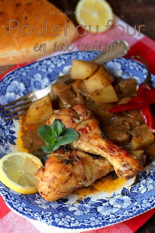poulet au four en sac cuisson