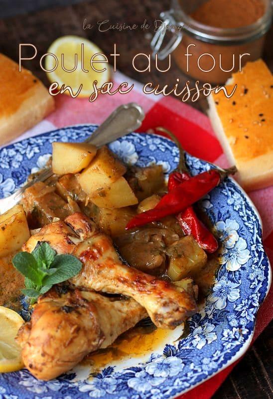 Poulet et pommes de terre en sachet cuisson