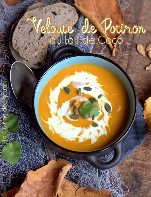 soupe veloutée de potiron au lait de coco