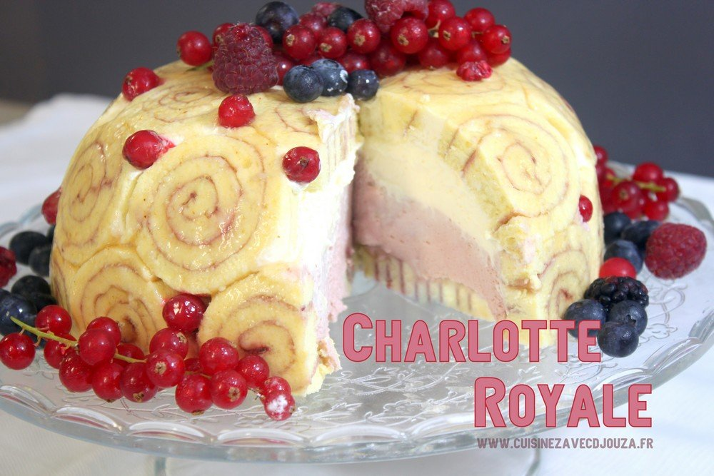 Charlotte royale de Mercotte  La cuisine de Djouza