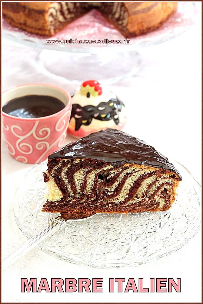 Zebra cake/gateau zebré marbré italien