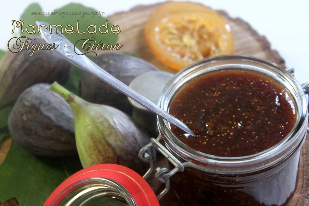 Marmelade figues citron