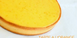 Tarte crémeuse a l'orange