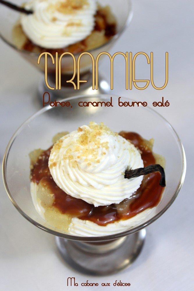 tiramisu poire caramel beurre sal recettes faciles recettes rapides de djouza. Black Bedroom Furniture Sets. Home Design Ideas