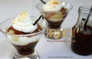Tiramisu poire caramel beurre salé