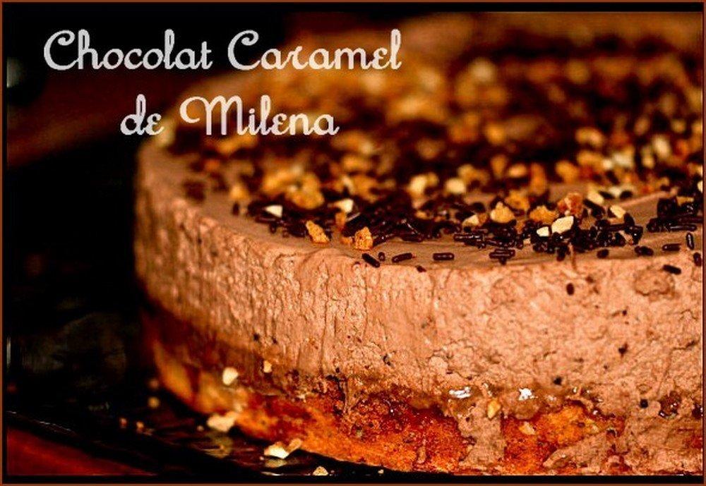 Bavarois chocolat caramel beurre salé