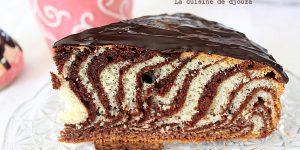 Gateau zebré ou zebra cake (hyper moelleux)