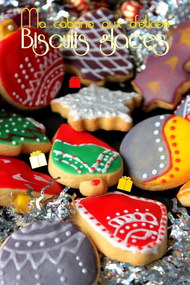 Biscuits de no l glac s recettes faciles recettes for Decoration gateau noel