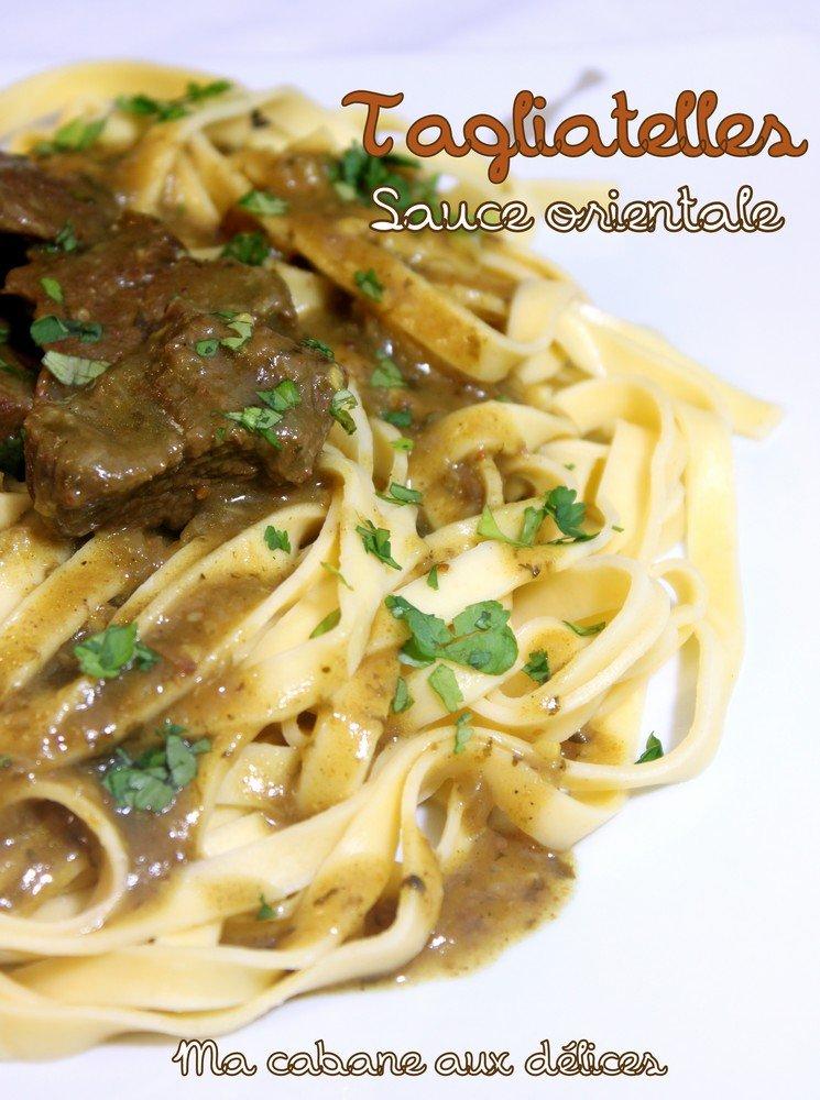 Tagliatelles sauce orientale
