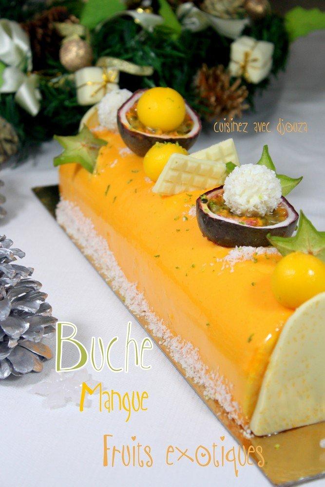 Buche de noel mousse fruit exotique
