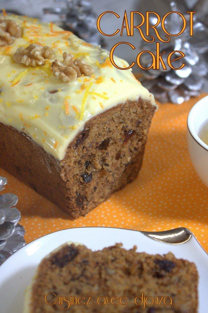 Le carrot cake gateau aux carottes facile recettes faciles recettes rapides de djouza - Recette carrot cake americain ...