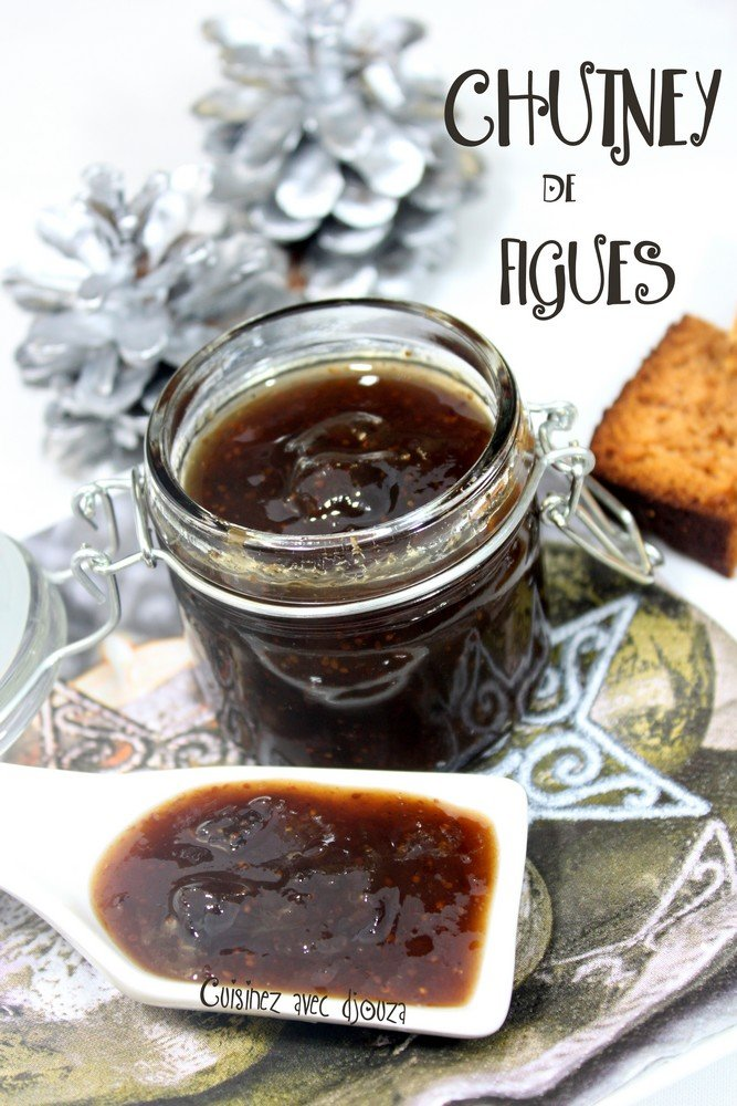 chutney de figues aux pices recettes faciles recettes rapides de djouza. Black Bedroom Furniture Sets. Home Design Ideas