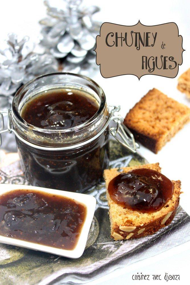 chutney de figues aux pices recettes faciles recettes rapides de djouza. Black Bedroom Furniture Sets. Home Design Ideas