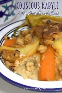 Couscous kabyle viande sèche