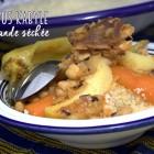 Recette kabyle couscous a la viande seche