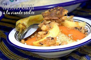 Couscous kabyle haricots cornilles et viande salée