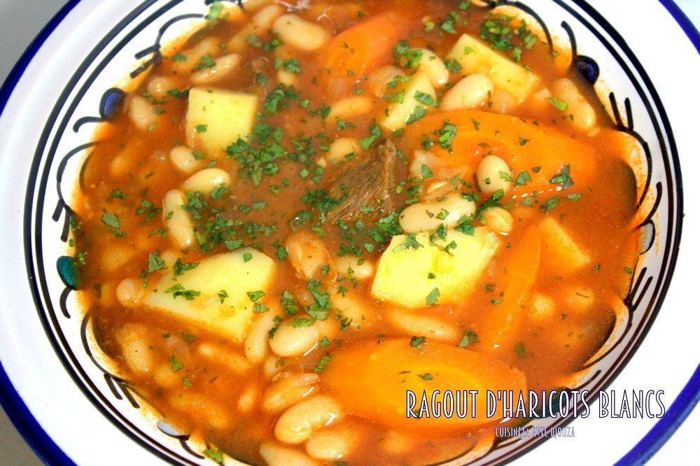 Loubia haricot blanc en sauce rouge la cuisine de djouza - Cuisine recette algerien ...