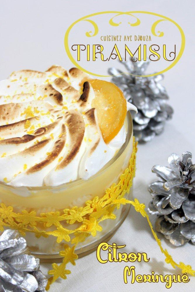 Tiramisu au citron meringue