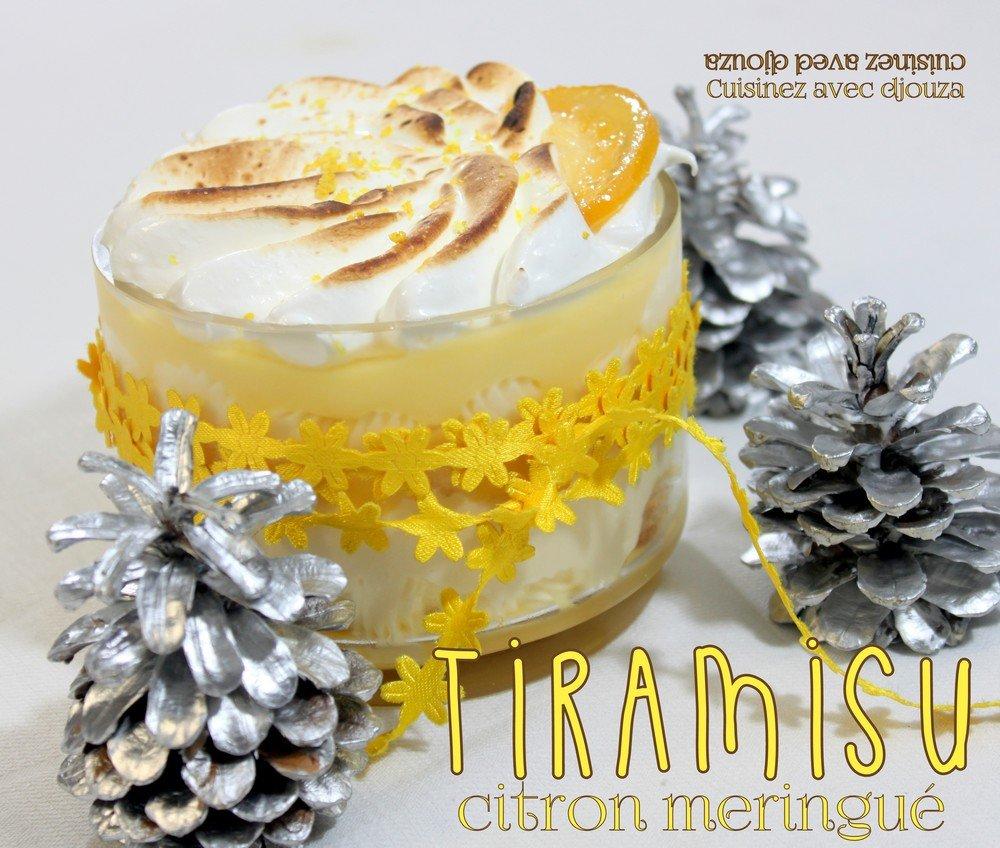Tiramisu au citron meringué
