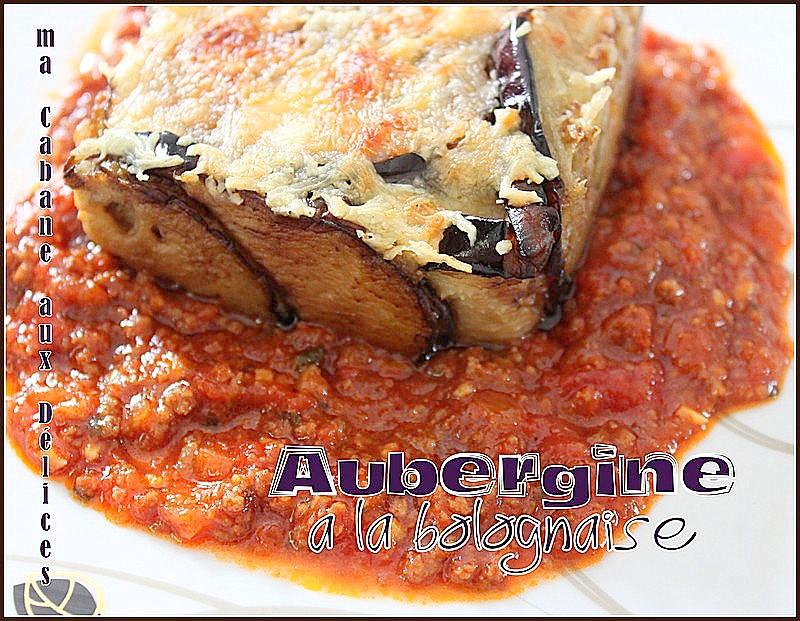 Aubergine a la bolognaise et pommes de terre