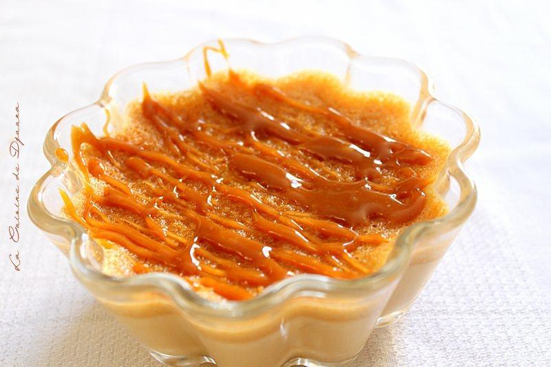 Crème aux oeufs sauce caramel