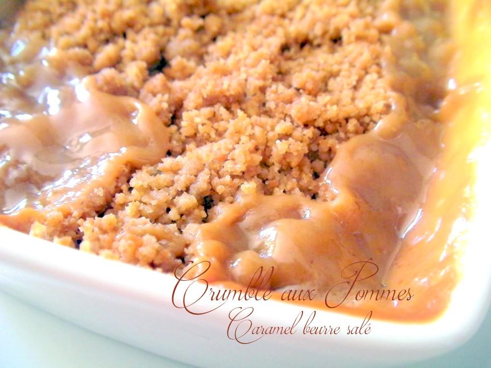 Crumble aux pommes caramel beurre et spéculoos