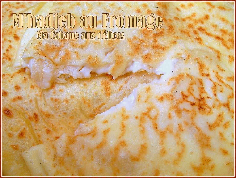 Recette mhajeb farci au fromage