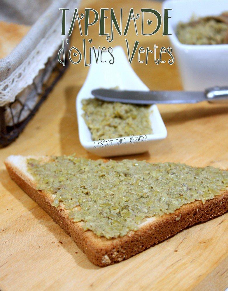 Tapenade verte aux olives marinées