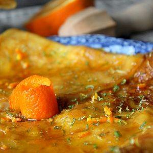 Crepes sauce suzette facile (sans alcool)
