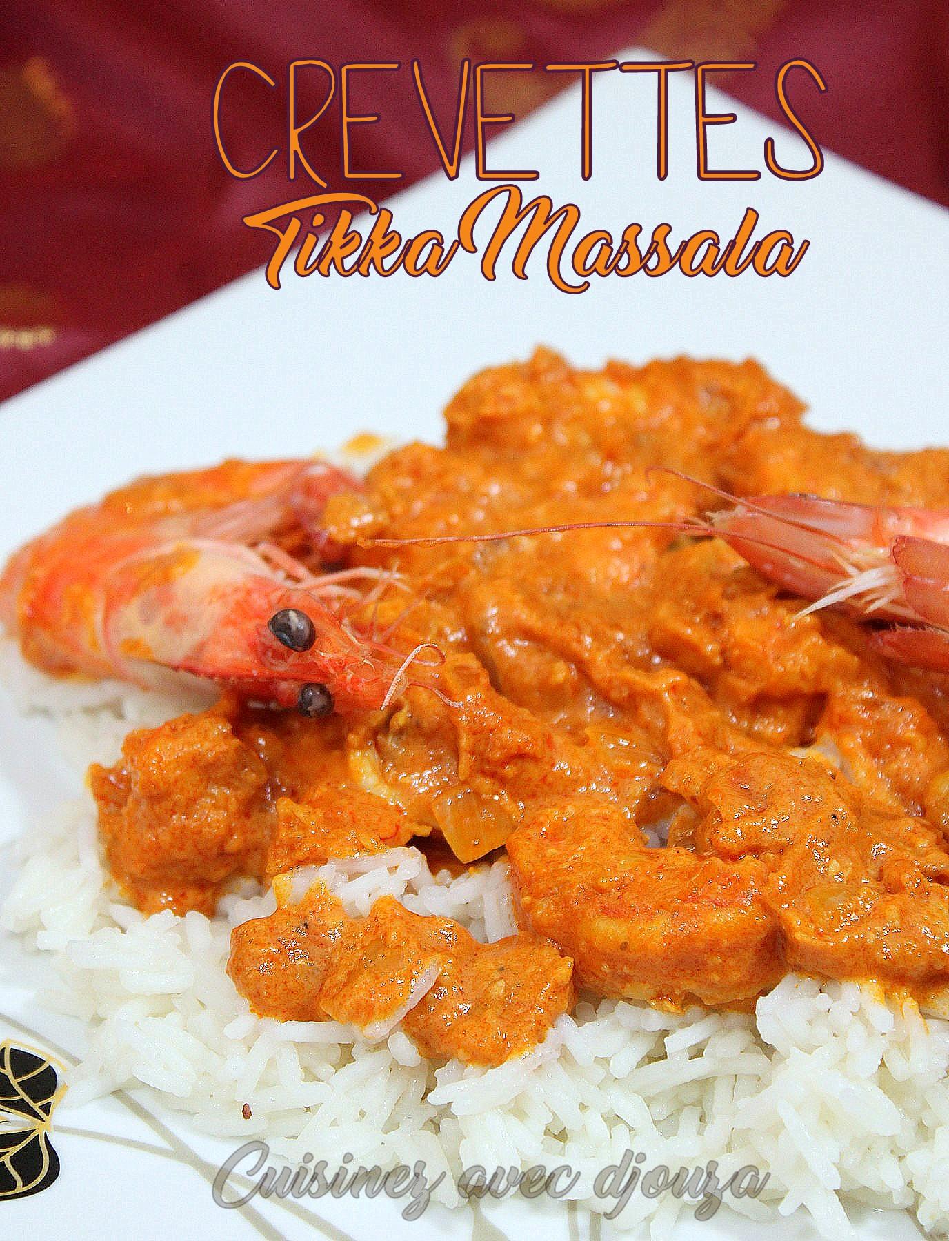 Crevettes indienne tikka massala