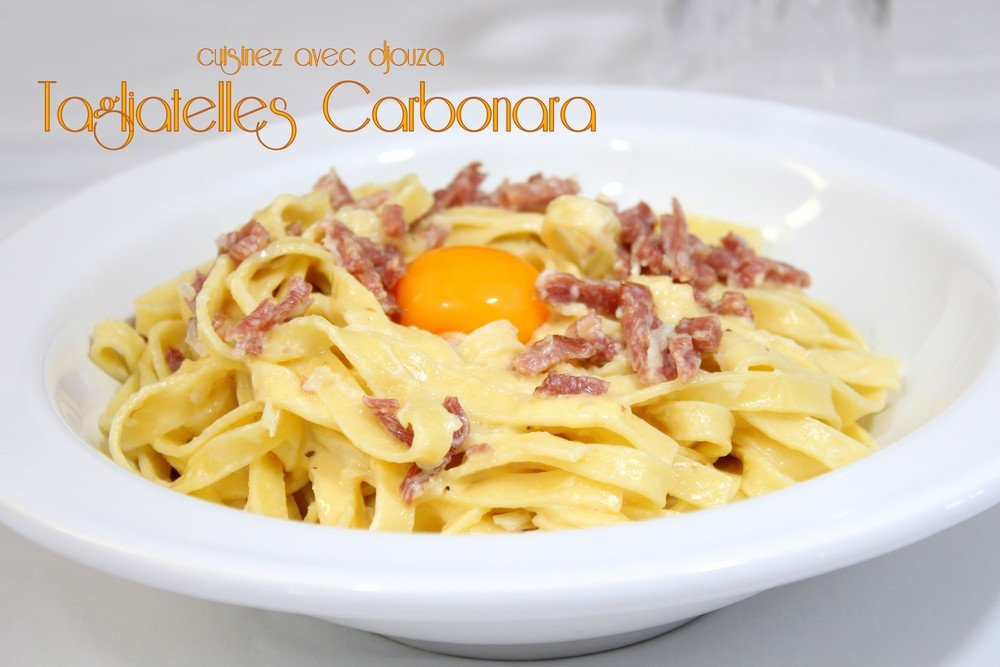 recettes pates carbonara. Black Bedroom Furniture Sets. Home Design Ideas