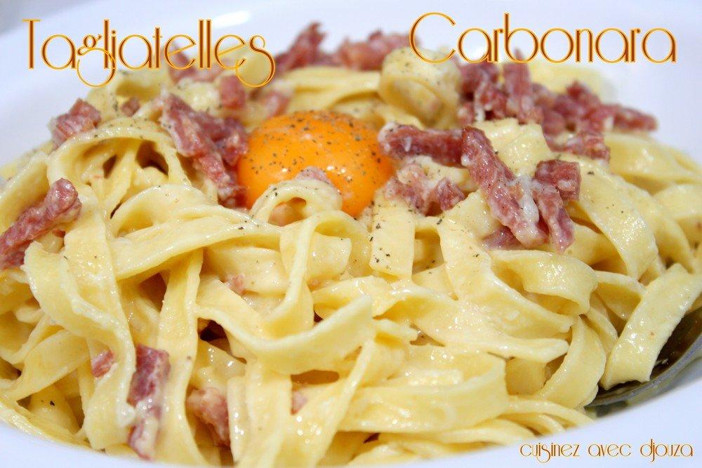 recettes pates carbonara italienne