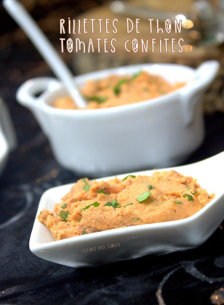 Rillettes de thon tomates confites