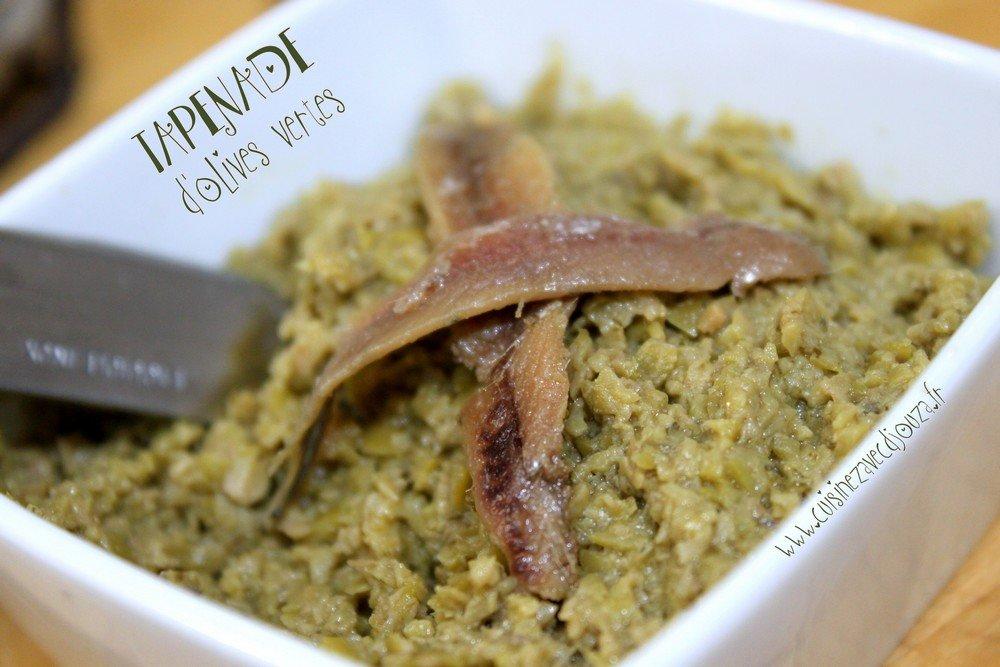 tapenade maison aux olives vertes recettes faciles recettes rapides de djouza. Black Bedroom Furniture Sets. Home Design Ideas