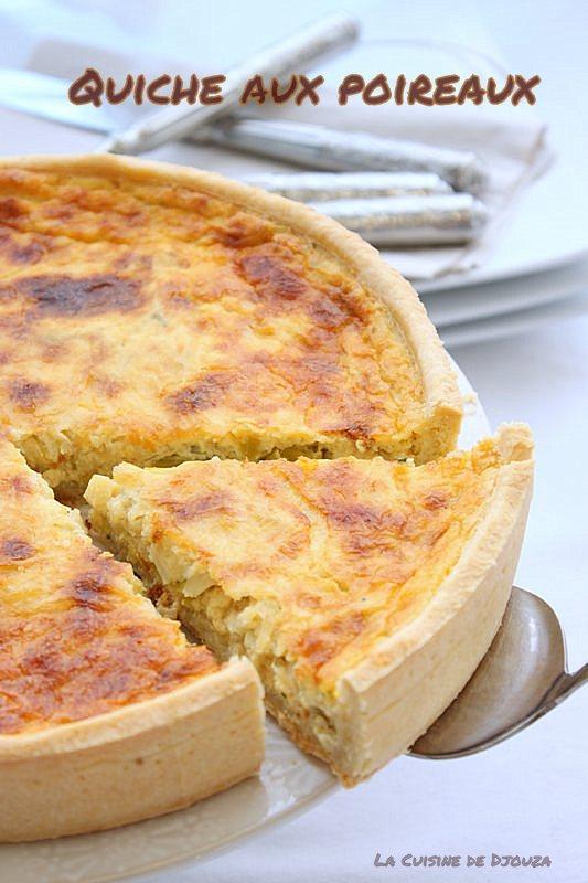 recette tarte fondue de poireaux sur pâte brisée maison
