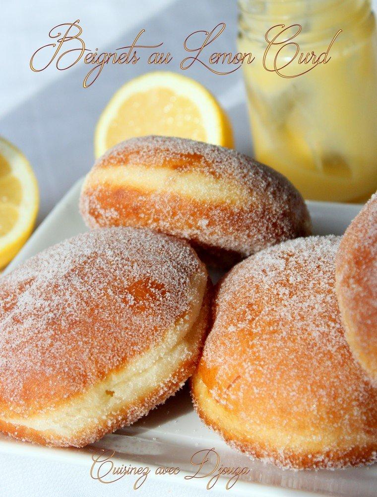 Beignet moelleux au lemon curd