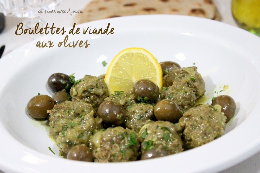 Tajine boulette de viande aux olives tajine zitoune