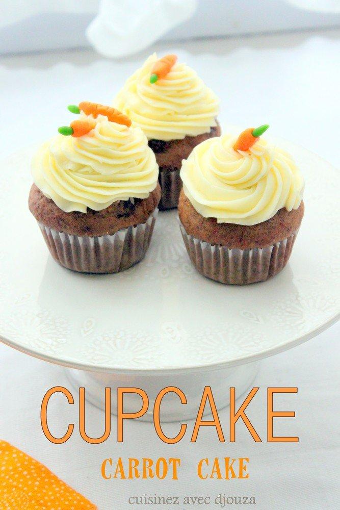 Cupcake carrot cake creme au beurre