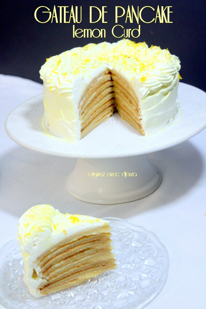Gateau de pancake au lemon curd photo 3