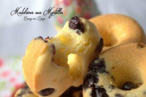 recette madeleine aux myrtilles