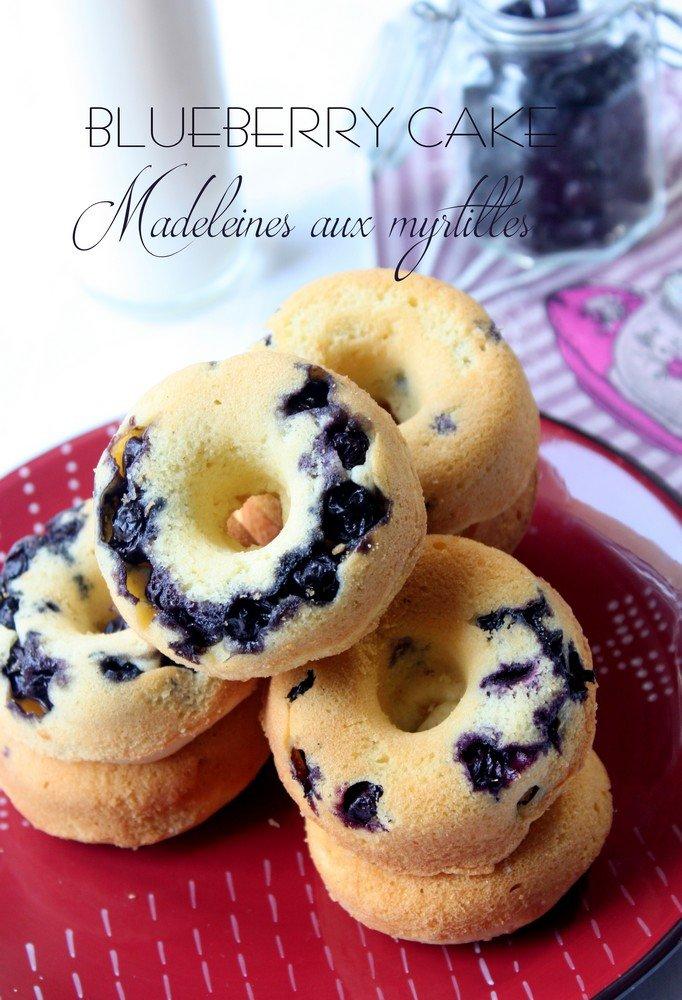 Recette madeleines aux myrtilles