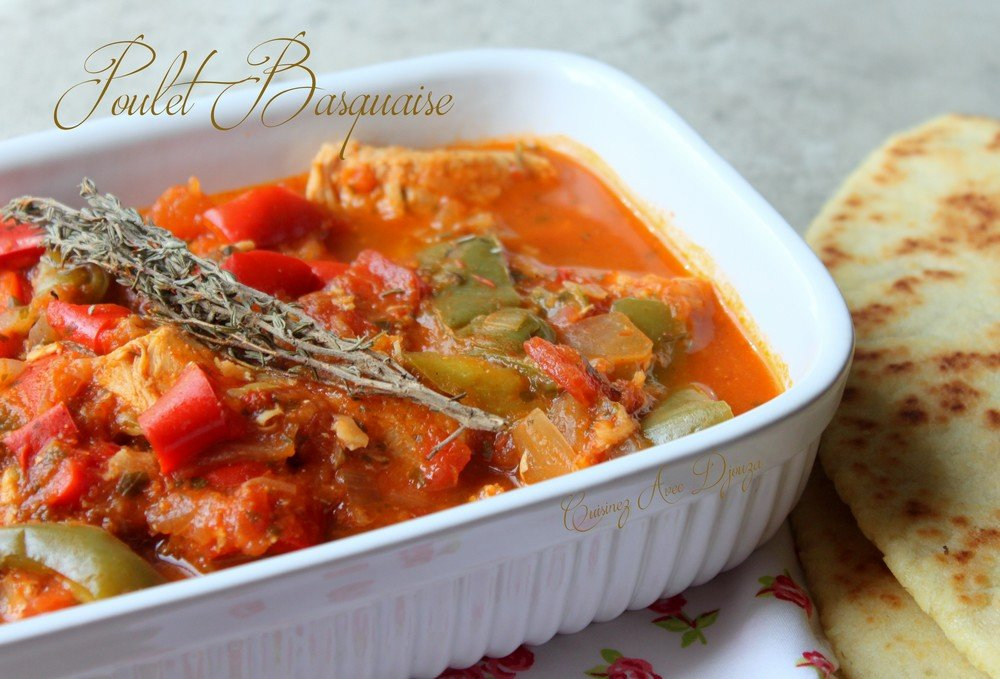 Poulet basquaise recettes faciles recettes rapides de - Recette de cuisine algerienne traditionnelle ...