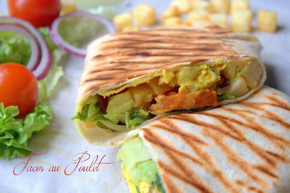 Tacos, sandwich au poulet 3