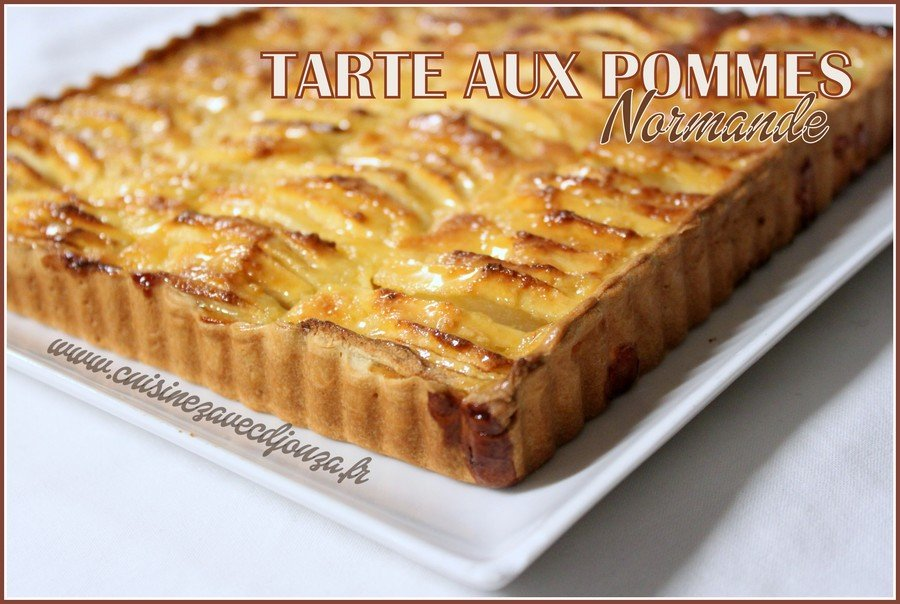 tarte aux pommes normande recettes faciles recettes. Black Bedroom Furniture Sets. Home Design Ideas