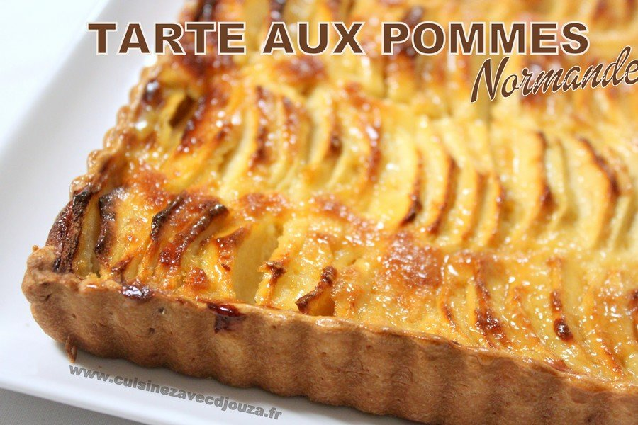 tarte aux pommes normande recettes faciles recettes rapides de djouza. Black Bedroom Furniture Sets. Home Design Ideas