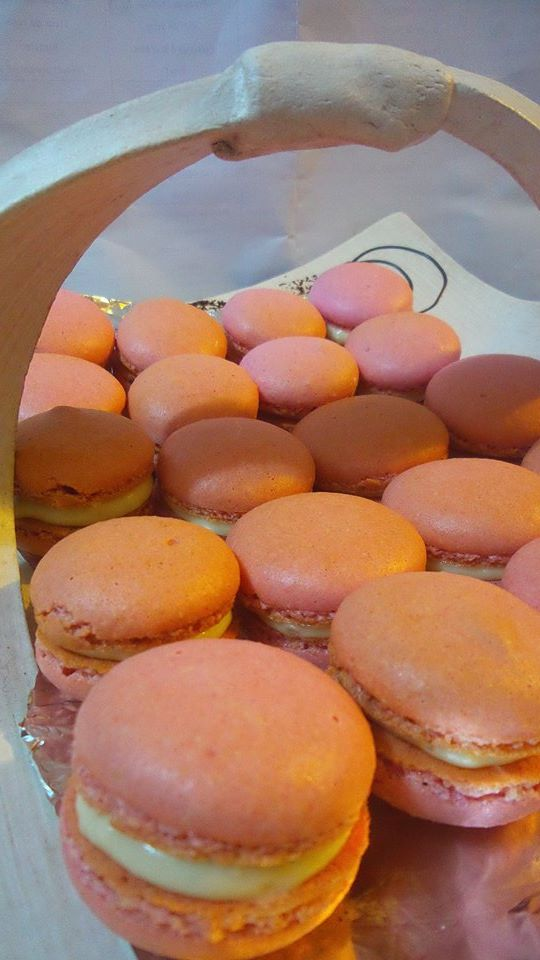 Macarons orange curd Kheira