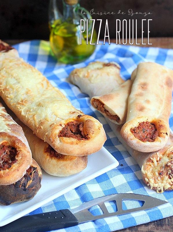 Pizza roulée a la viande hachée