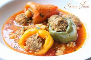 recette poivrons farcis sauce rouge viande hachée