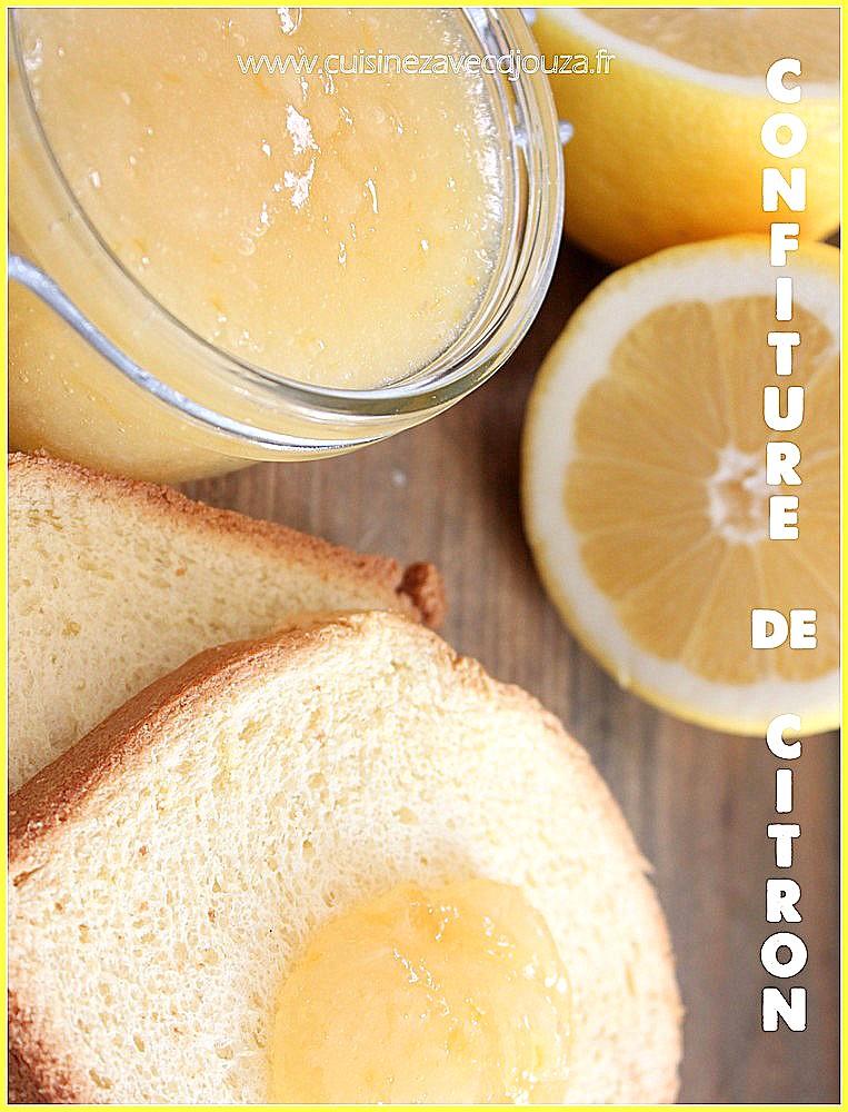 Confiture de citrons jaunes