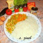 réunir les ingrédients du gâteau de riz